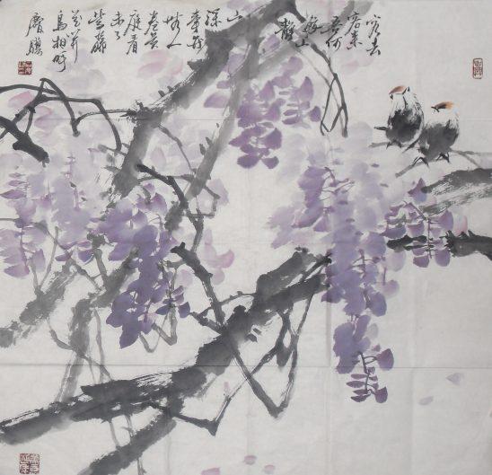 树花鸟鱼虫铅笔画