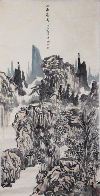 2003年出版《张楠小品水墨画》,2005出版《名家名画——张楠逸笔山水图片