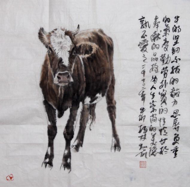 可人轩画廊>国画:牛图片